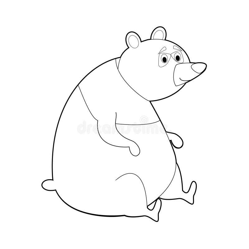 孩子的容易的着色动物:熊猫 库存例证