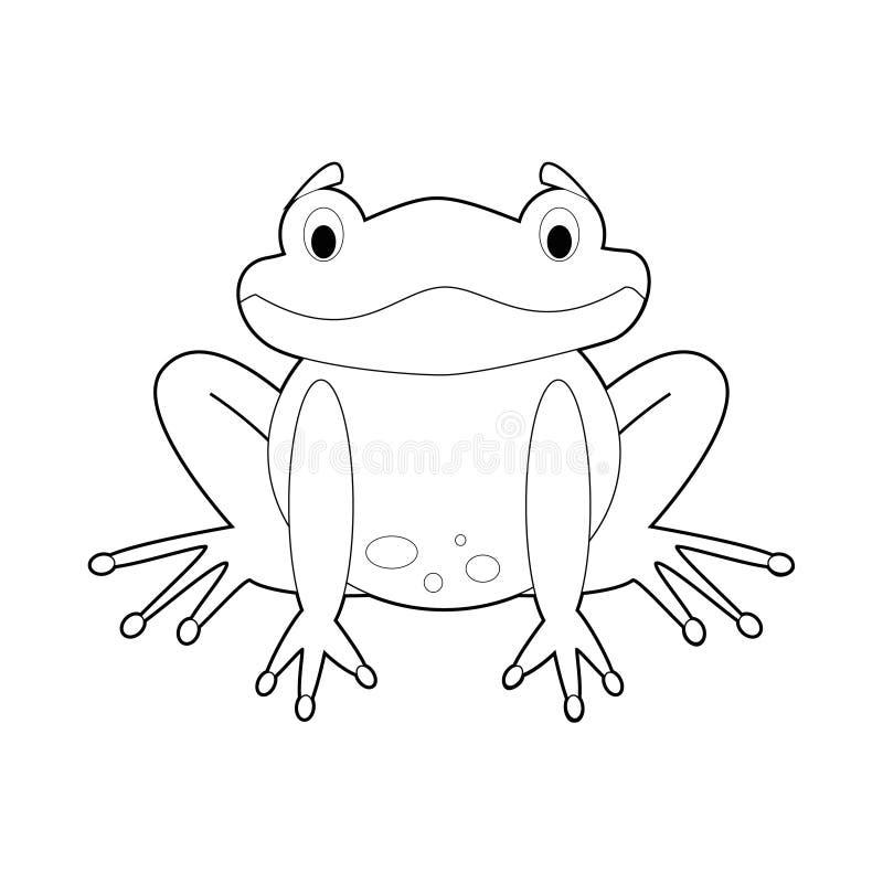孩子的容易的着色动物:青蛙 皇族释放例证