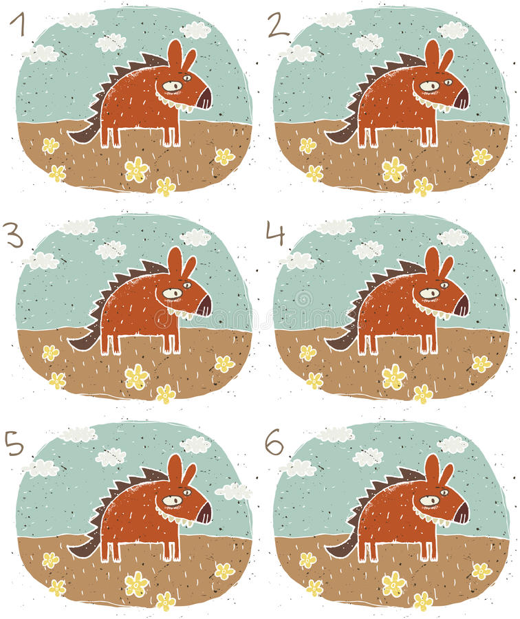 微笑的鬣狗视觉比赛 皇族释放例证