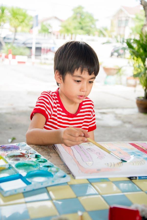 孩子的手图画图片 免版税库存照片