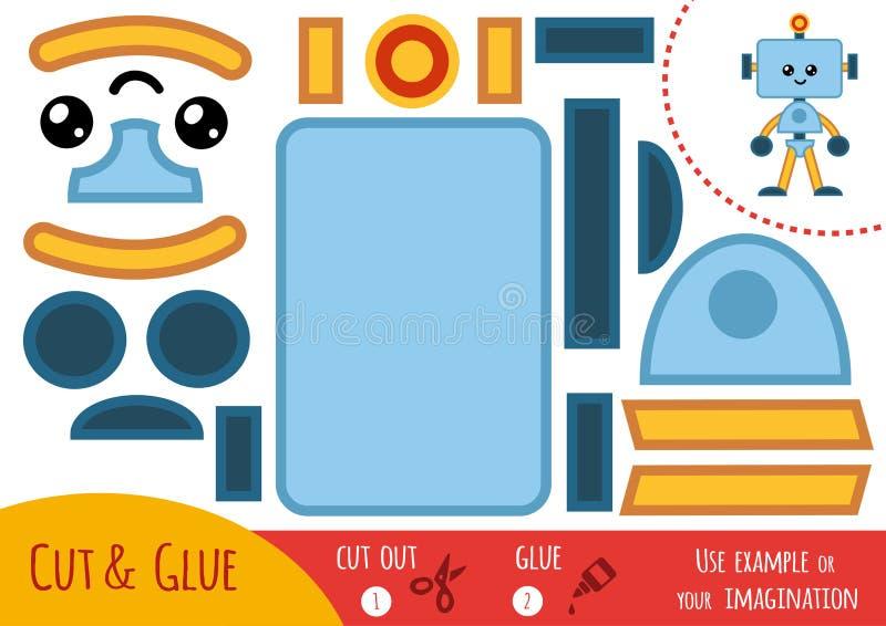孩子的教育纸比赛,机器人 库存例证