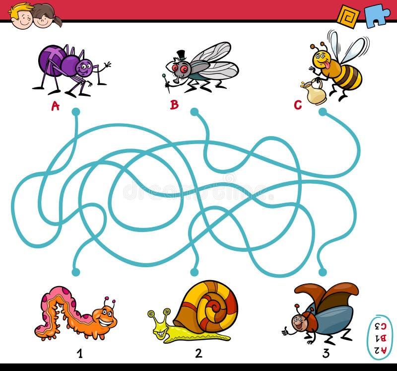 孩子的教育迷宫任务 库存例证