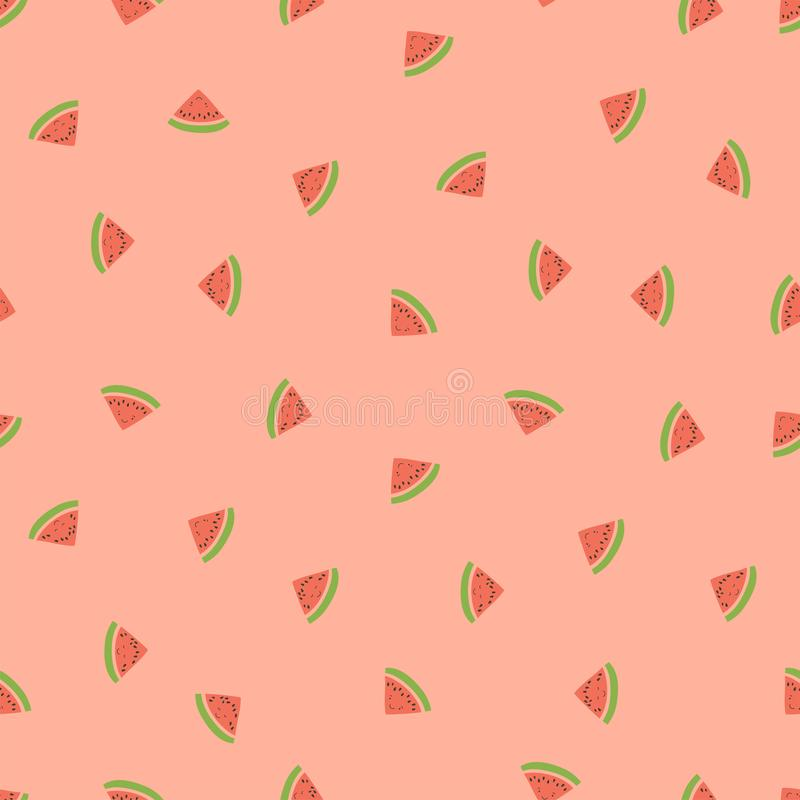 孩子的无缝的样式 微笑的西瓜 异乎寻常的果子时尚印刷品 婴孩纺织品或衣裳的设计元素 ?? 向量例证