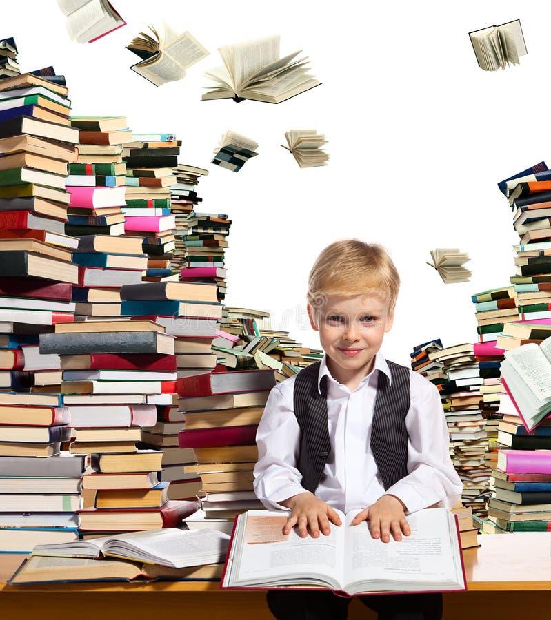 孩子的有趣的读书 免版税库存照片