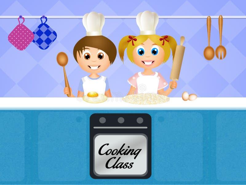 孩子的烹饪课 向量例证