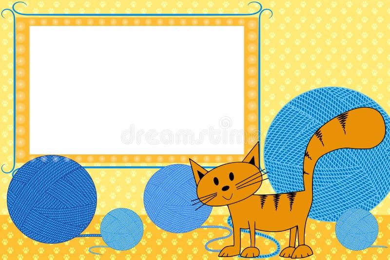 孩子的照片框架 向量例证