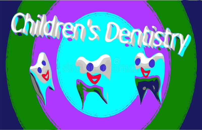 孩子的牙齿诊所,乳齿的治疗 库存图片