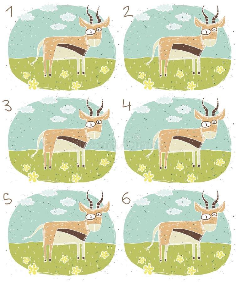 羚羊视觉比赛 皇族释放例证