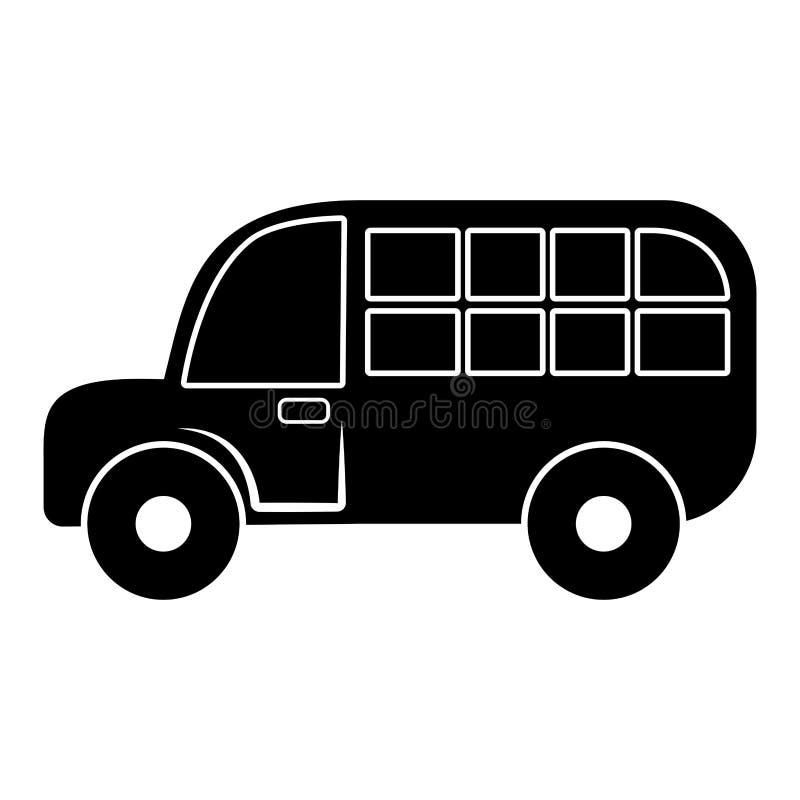 孩子的被隔绝的学校班车玩具 库存例证