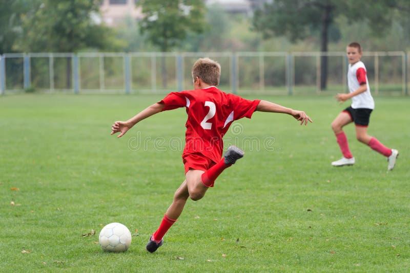 孩子的足球 库存图片