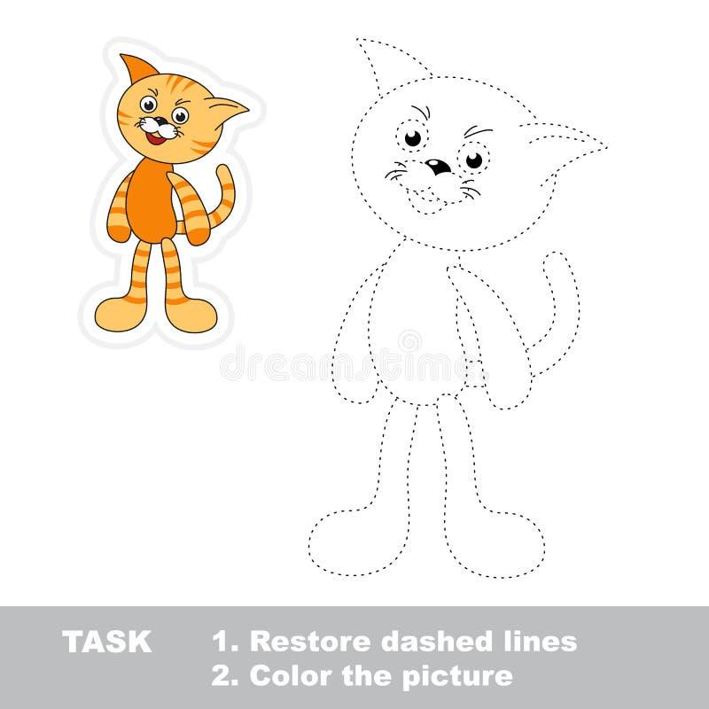 孩子的踪影比赛 是一只动画片的猫 皇族释放例证
