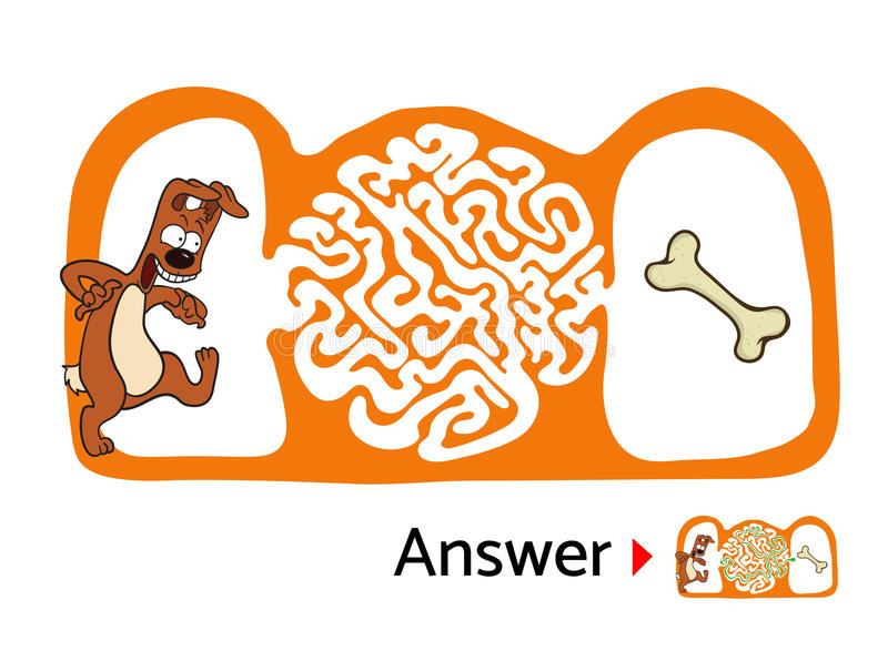 Download 孩子的迷宫难题与狗和骨头 迷宫例证,包括的解答 向量例证. 插画 包括有 复杂, 设计, 休闲, 混淆, 抽象 - 72352819