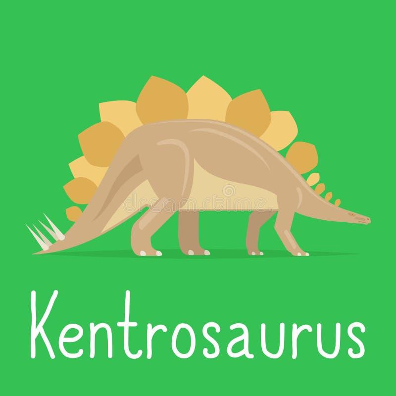 孩子的钉状龙恐龙五颜六色的卡片 皇族释放例证
