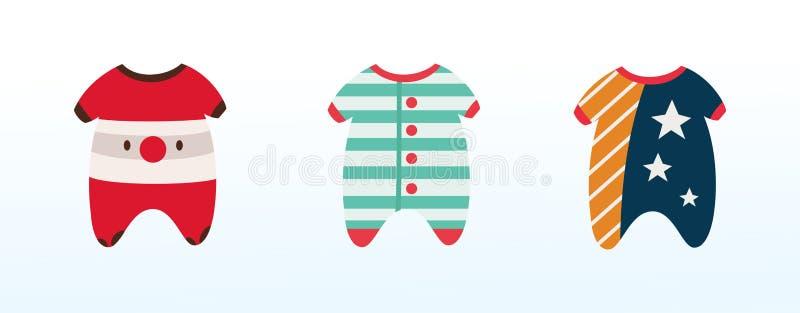 孩子的,睡眠的衣裳温暖的冬季衣服 免版税图库摄影
