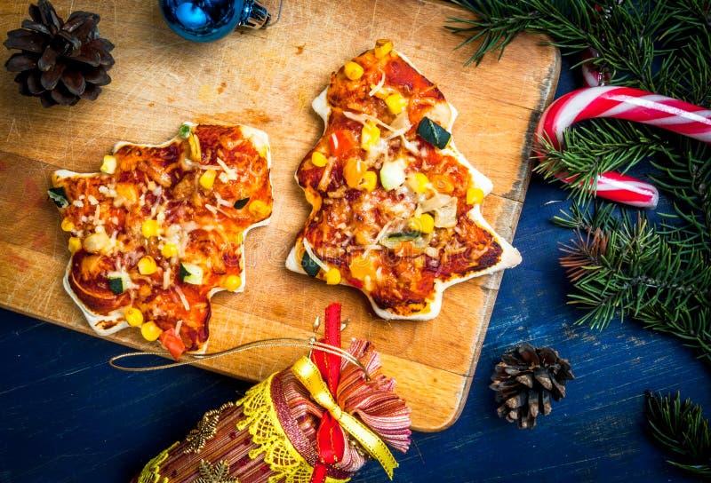 孩子的滑稽的圣诞节膳食 免版税图库摄影