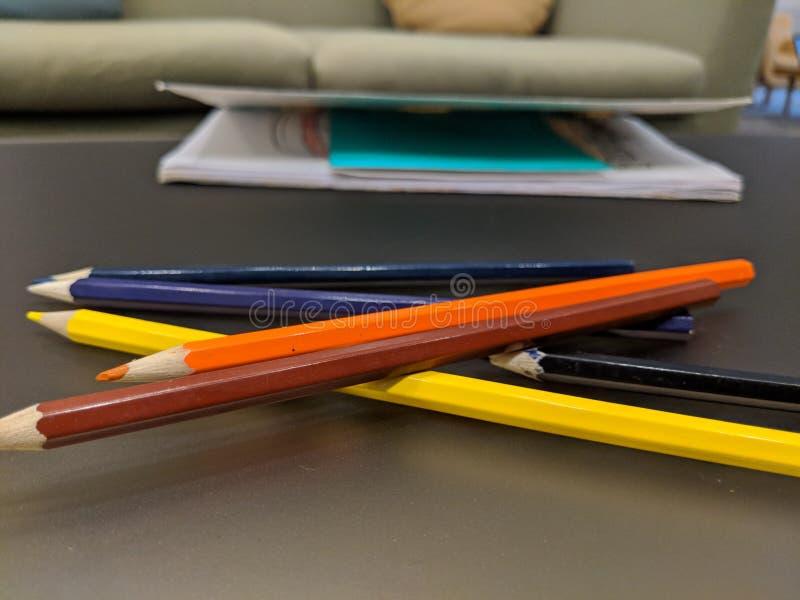 孩子研究桌和固定式 库存照片