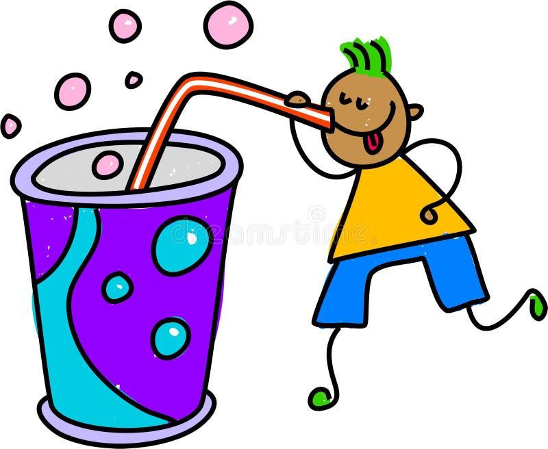 孩子碳酸钠 向量例证