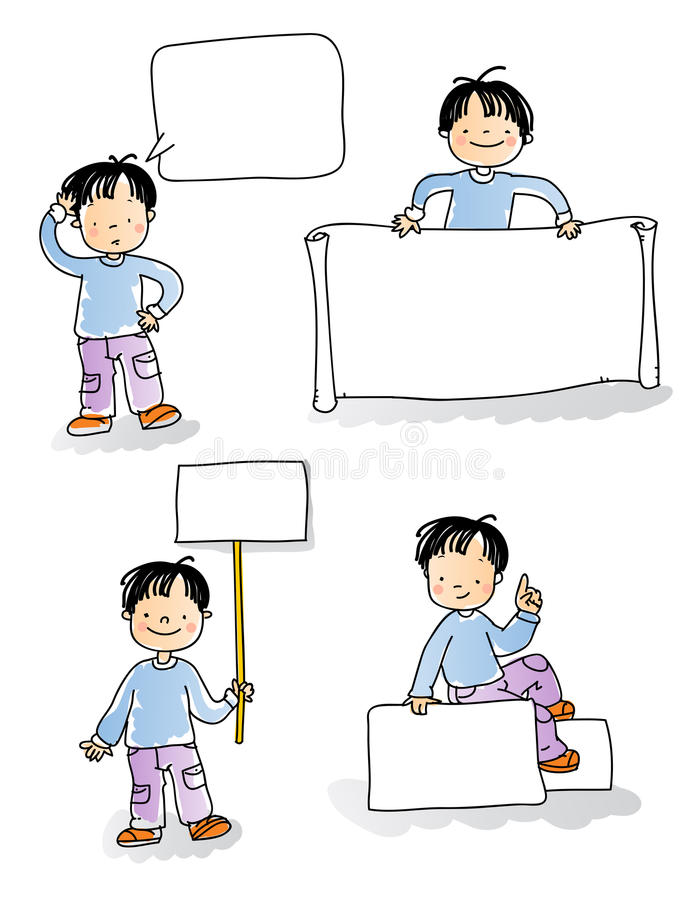 孩子符号 皇族释放例证