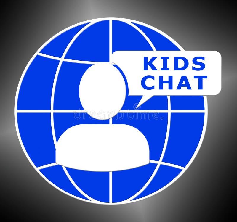 孩子聊天节目儿童信使3d例证 库存例证