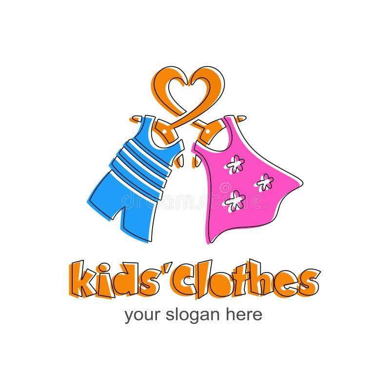 孩子衣裳商标 儿童` s商店的标志