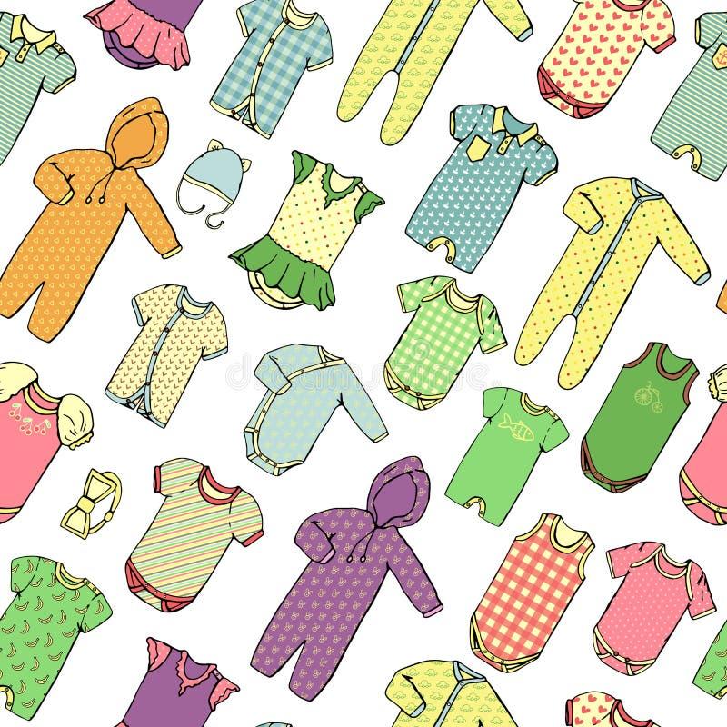 孩子衣裳样式 向量例证
