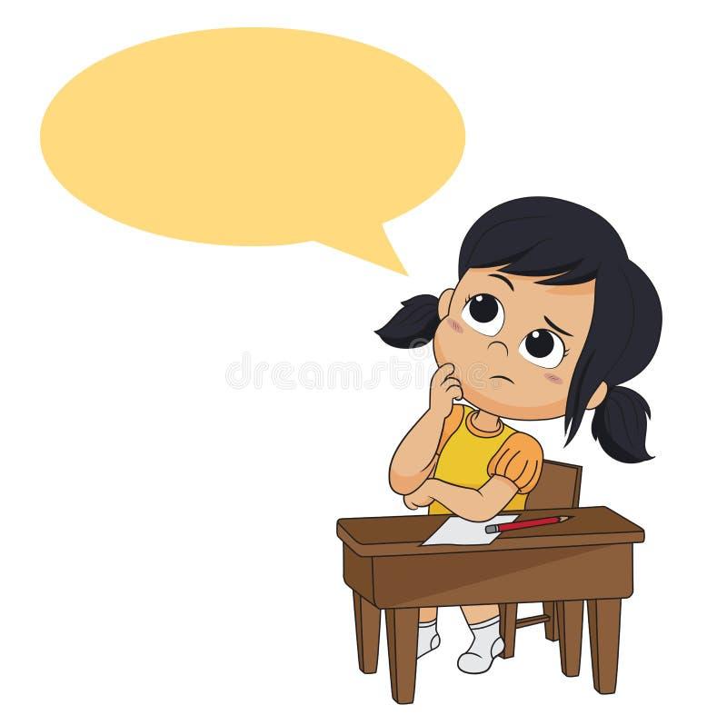孩子认为 传染媒介和例证 库存例证