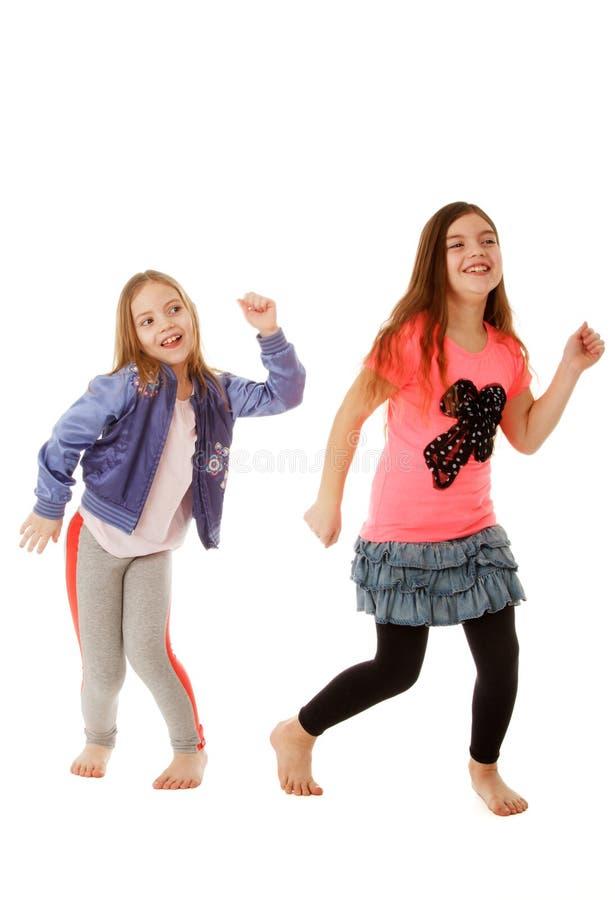 孩子跳舞 免版税库存照片
