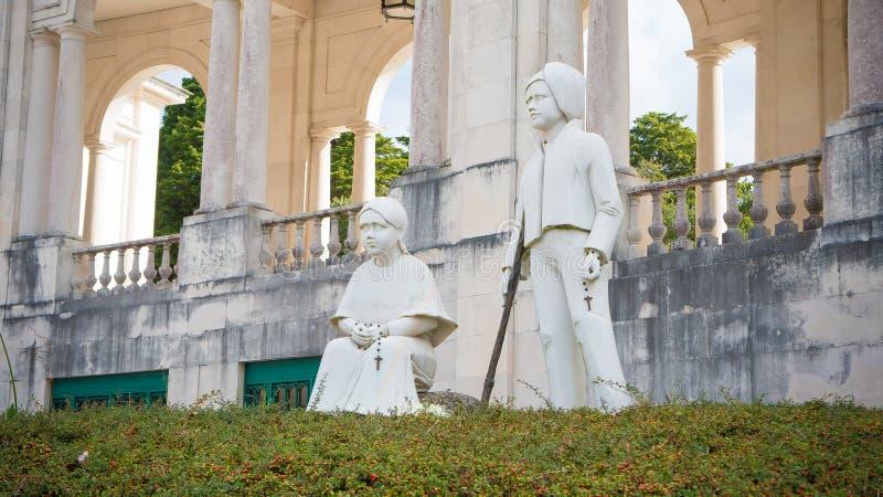 孩子雕象,法蒂玛,葡萄牙 免版税库存照片
