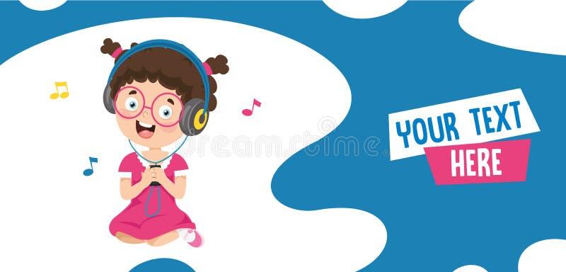孩子音乐的传染媒介例证 向量例证
