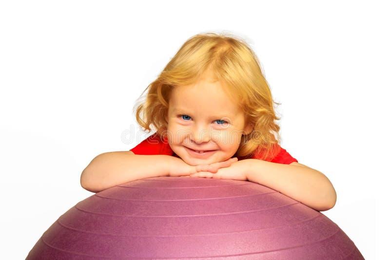 孩子`健身房和健身 免版税库存图片