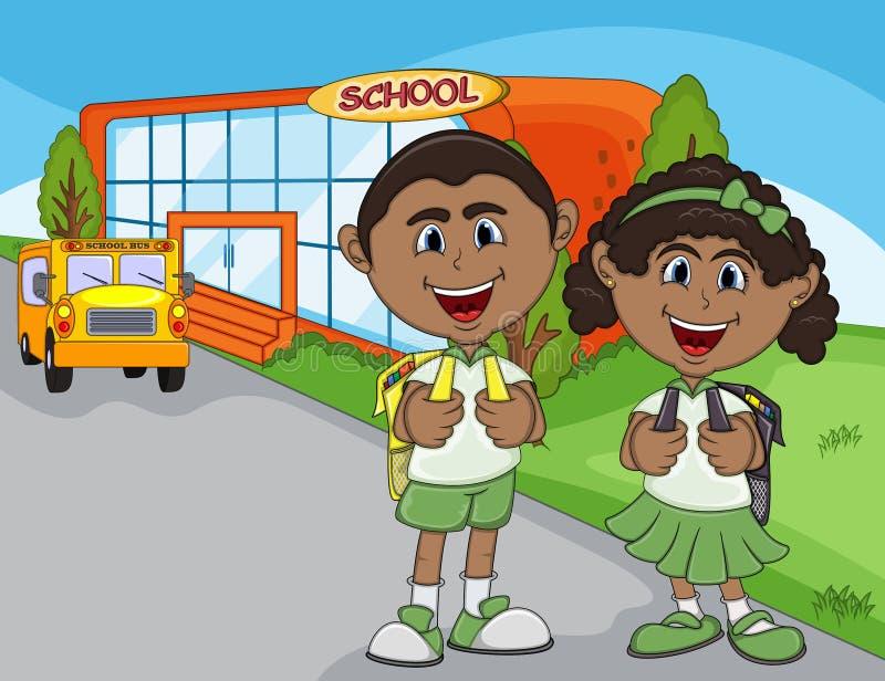 孩子去完整色彩学校的动画片图片