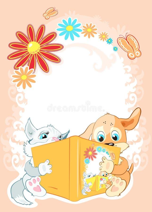 孩子读童话 库存例证