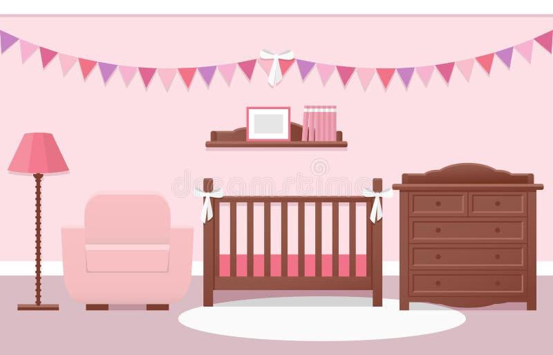 婴孩室内部 也corel凹道例证向量 向量例证