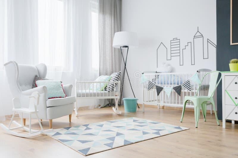 婴孩室装饰的想法 免版税库存图片