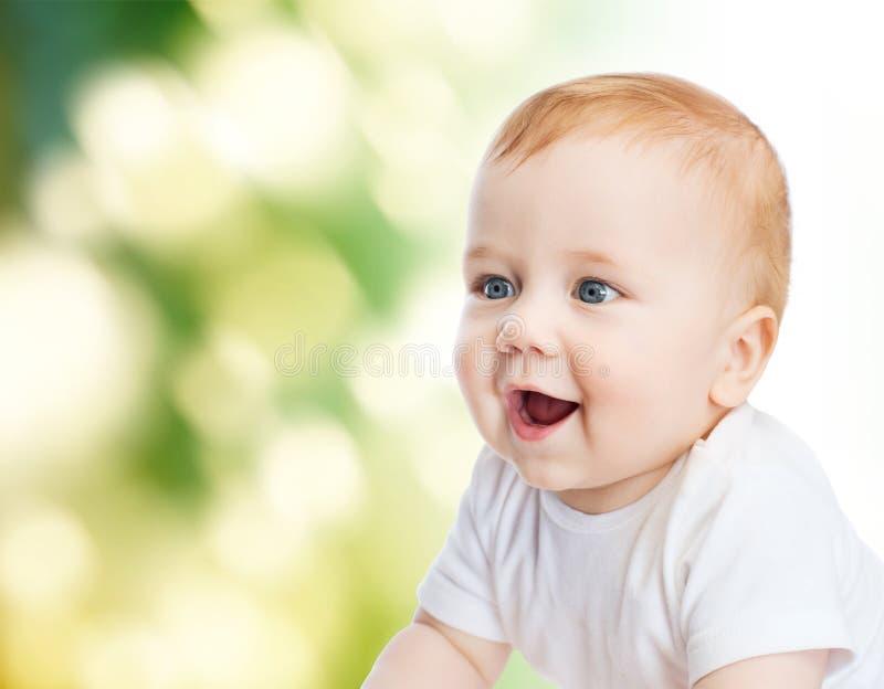 婴孩微笑的一点 库存图片
