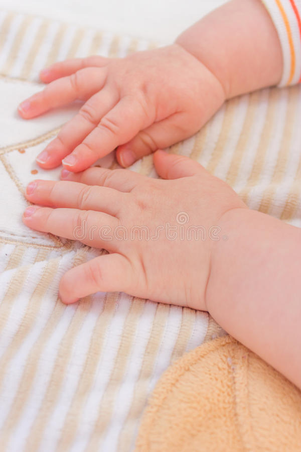 婴孩手 库存图片