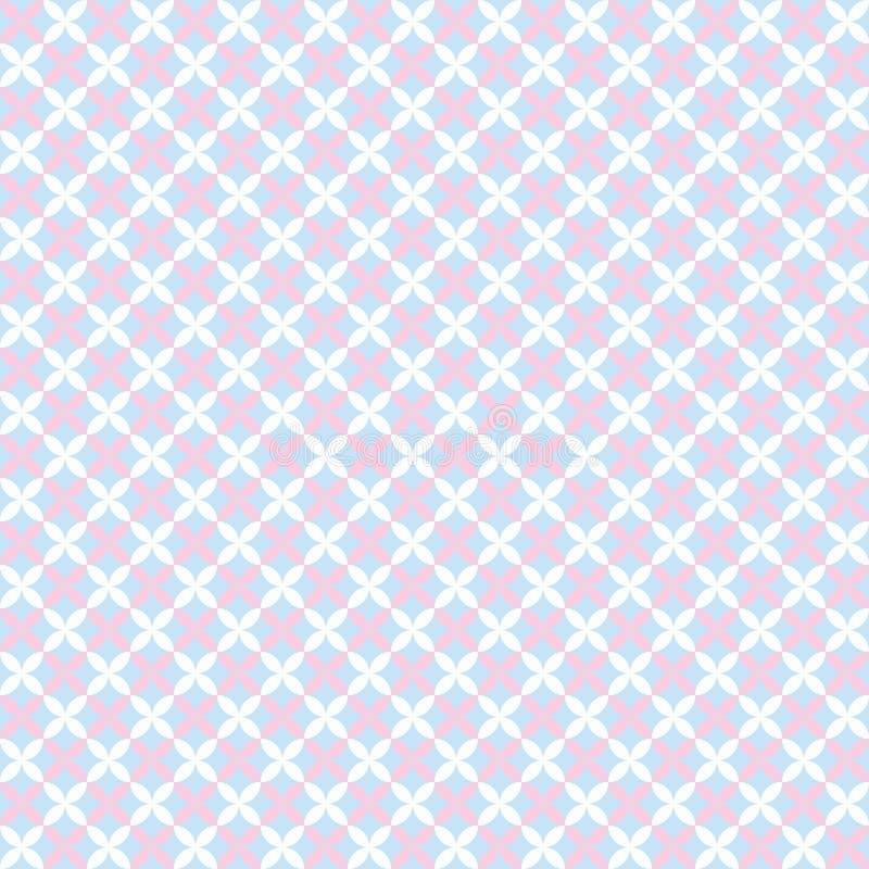 婴孩柔和的淡色彩另外无缝的样式 向量例证