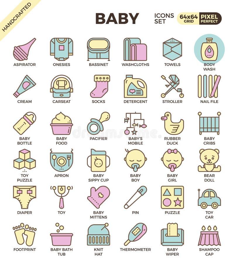 婴孩概述象 向量例证