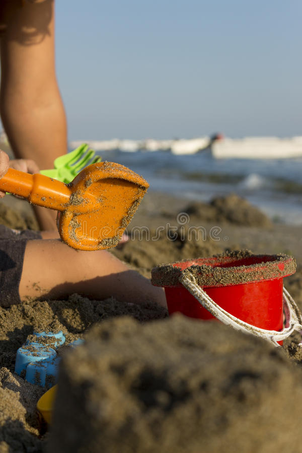 婴孩海滩 免版税库存图片
