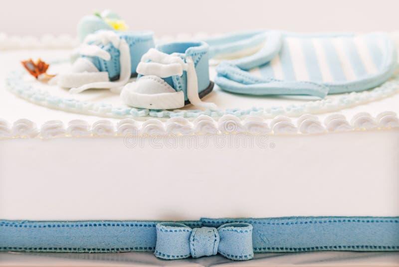 婴孩生日蛋糕 图库摄影