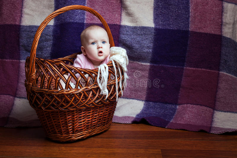 婴孩的纵向 免版税图库摄影