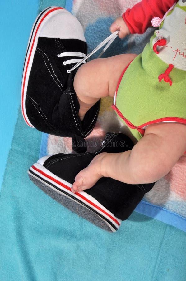 婴孩的腿 库存照片