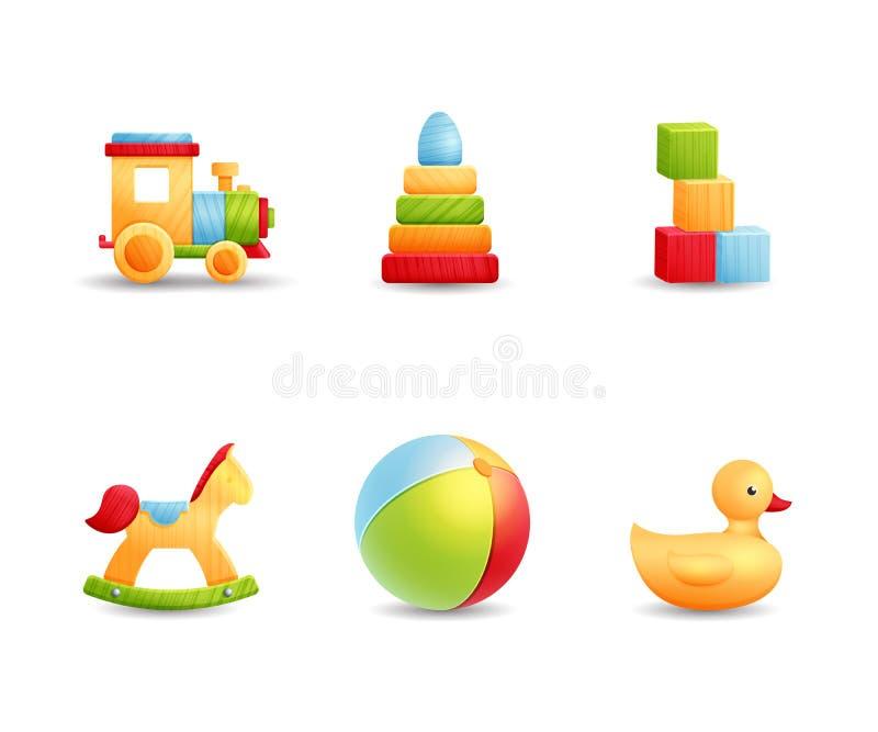 婴孩第一个玩具现实象收藏 皇族释放例证