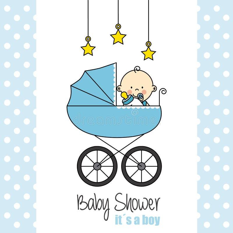 婴孩背景兔宝宝看板卡逗人喜爱的花卉阵雨文本 库存例证