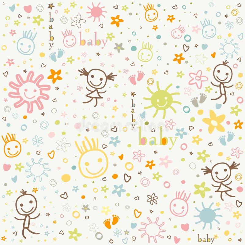 Download 婴孩背景 向量例证. 插画 包括有 逗人喜爱, 微笑, 婴孩, 人们, 等高, 颜色, 杂文, 子项, 模式 - 30333725