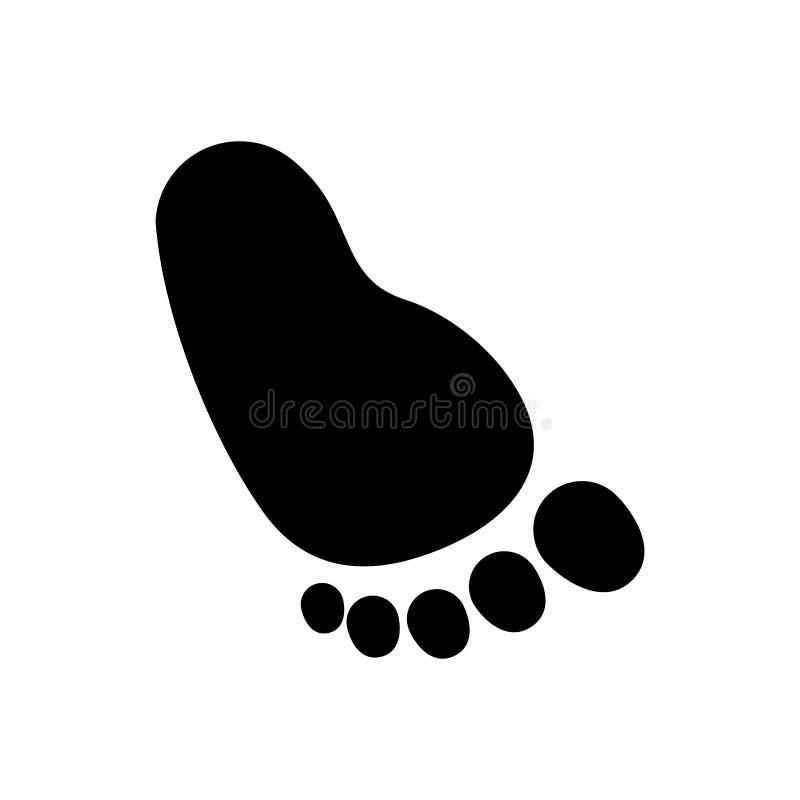 婴孩脚印象 皇族释放例证