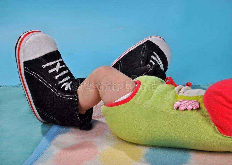 婴孩腿 库存图片