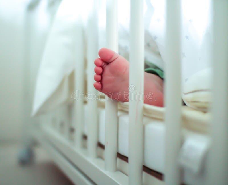 婴孩英尺s 图库摄影