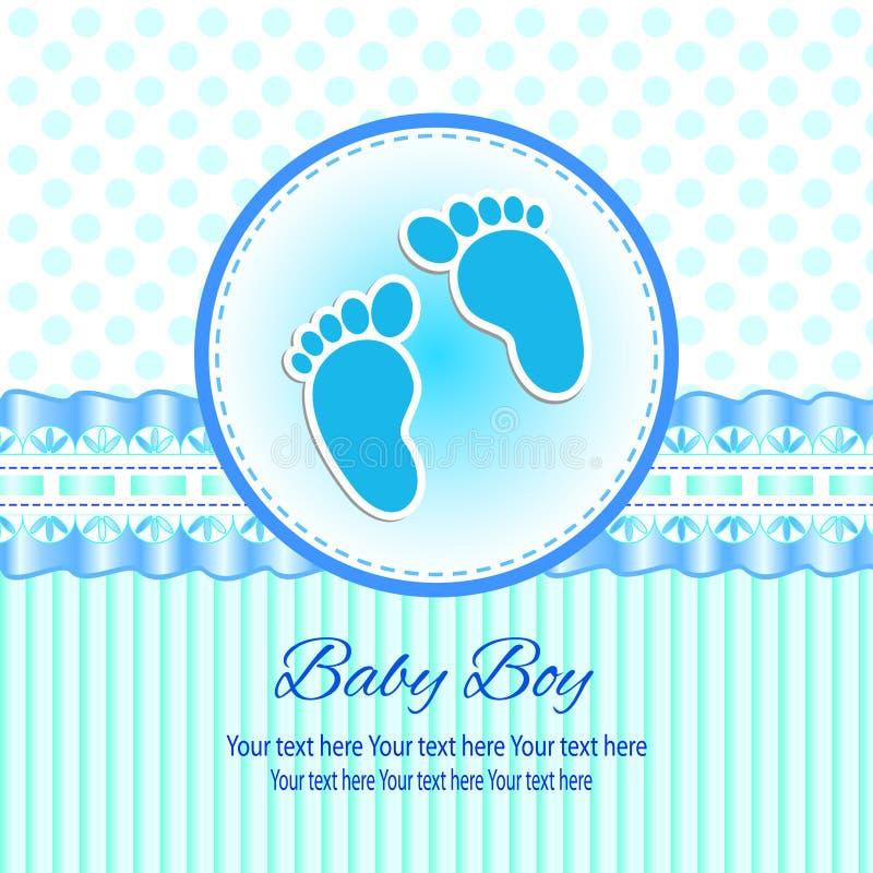 婴孩邀请卡片 库存例证