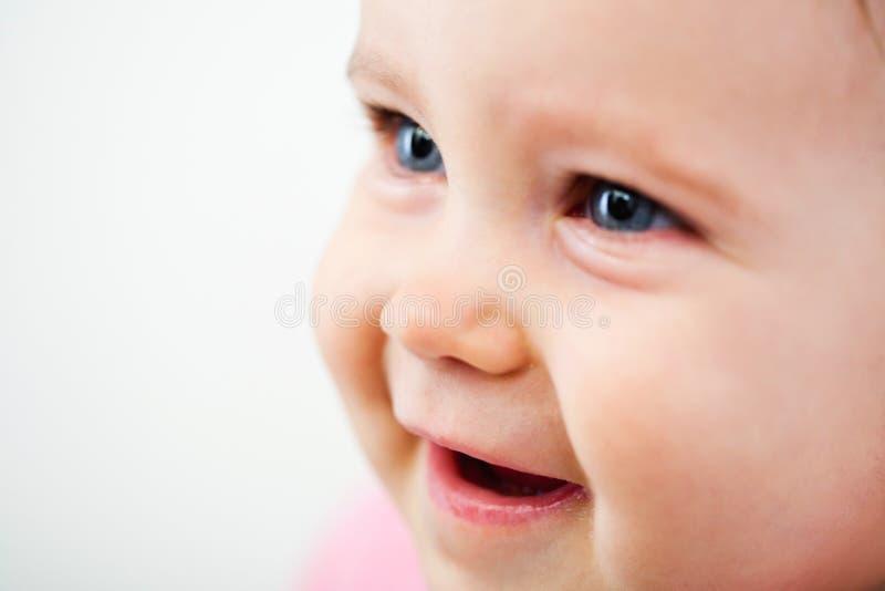 婴孩面孔特写镜头 免版税图库摄影